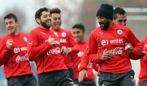 Selección chilena entrenando de cara a la Copa América 2015