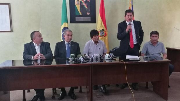 Gobernadores de Brasil en Bolivia para negociar compra de gas y urea
