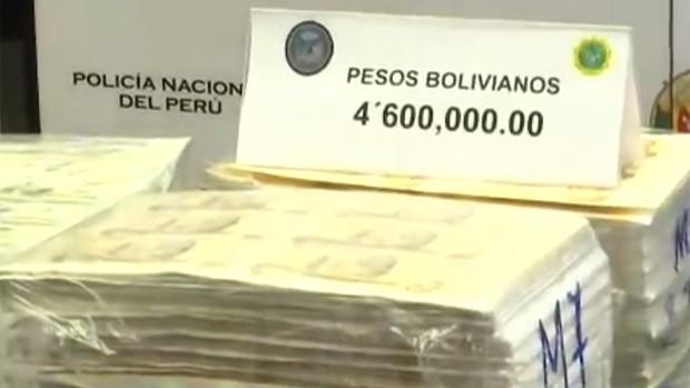 Hallan 4,6 millones de bolivianos en billetes falsos — Perú
