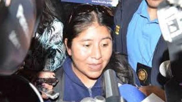 Tribunal otorga detención domiciliaria a Cristina Choque