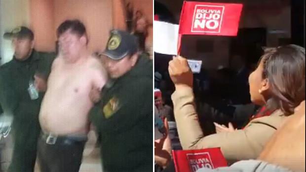 Un diputado boliviano se desnudó en pleno aeropuerto y se hizo viral
