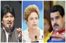 Evo Morales, Dilma Rousseff y Nicolás Maduro