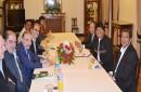 Ligueros reunidos con Evo Morales