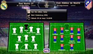 Probables alineaciones Real Madrid vs Atletico de Madrid; UEFA Champions League 2015/2016; Final; sábado 28 de mayo del 2016 a las 14:45HB
