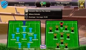 Probables alineaciones Bolívar vs The Strongest; Liga; clausura 2016; Fecha 16; domingo 01 de mayo a las 20:00
